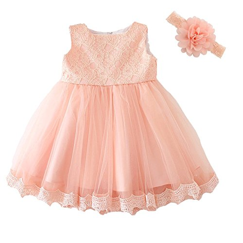[Moon Kitty Baby Girls Dresses Pageant Lace Formal Dress] (Baby Easter Dresses)