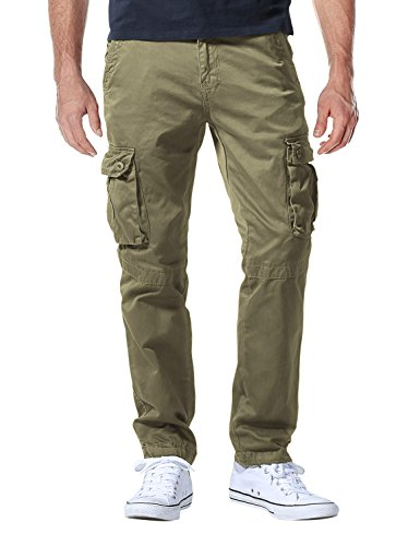 (Match Men's Casual Wild Cargo Pants Outdoors Work Wear #6531(32,Light Khaki))