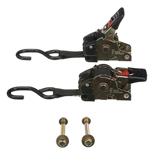 Attwood 15160-8 Retractable Transom Straps, Bolt-On Mounting, Steel S Hooks, 6 Feet x 1 Inch Straps, Release/Adjustment Button (Transom Attwood)