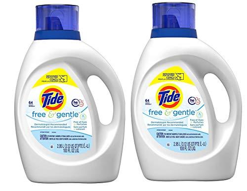 Tide Free and Gentle Liquid Laundry Detergent, 100 Fl oz