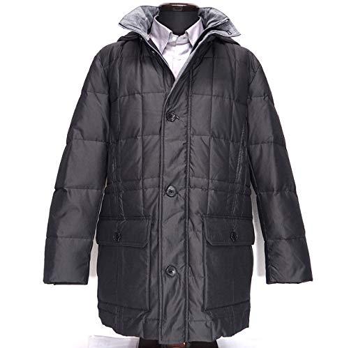 40122 秋冬 中綿 ダウンコート ハーフコート フード着脱可能 日本製生地使用 グレー(灰色) サイズ 48(L) G&G GEEGELLAN ジーゲラン 紳士服 メンズ 男性用