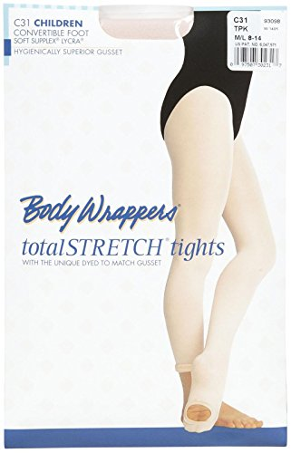 Bodywrappers Totalstretch Convertible Tights, M/L CHILD, Theatrical Pink