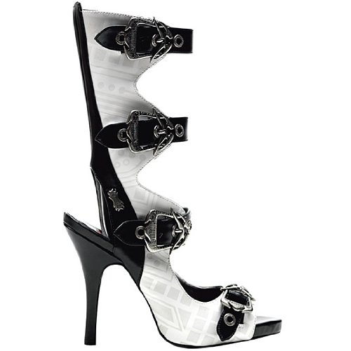 [Demonia by Pleaser Women's Zombie-106 Sandal,White Polyurethane,12 M US] (Angel Halloween Costumes 2016)
