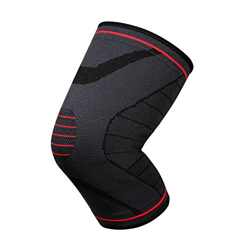 Knee Brace Best Compression Knee Sleeve for Pain Relief, Injury Recovery, Meniscus Tear.Knee Support For Running, Basketball and More Sports – Single Wrap (S:Up6.30