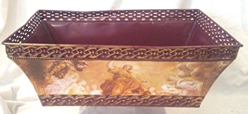 tal Tub Bucket 19 Inches X 12 Inches X 7 Inches, Religious Themed Metal Magazine Holder, ()