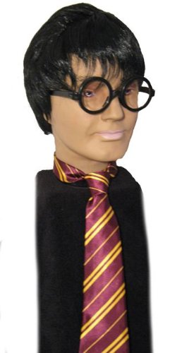 Harry Potter Wig, Glasses & Tie Fancy Dress Costume (peluca)