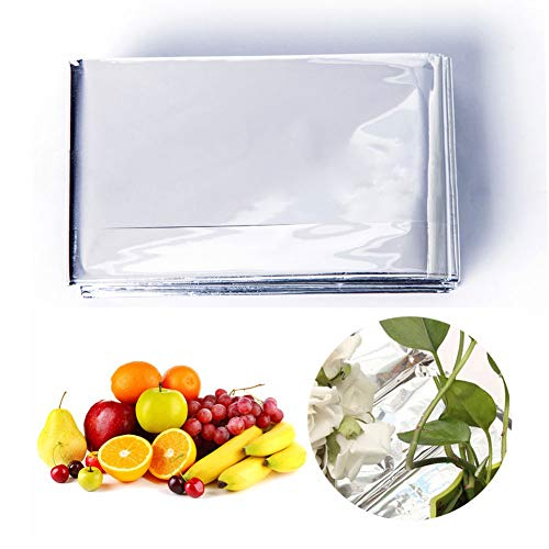 Efanr Silver Reflective Mylar Film, 82 x 47 inch Two-Sided Reflective Covering Foil Sheets for Greenhouse Fruit Trees Increasing Temperature Light by Efanr (Image #5)