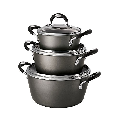 Tramontina 6-Piece Stackable Cookware Set, Pewter