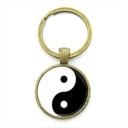 Amazon.com : Key Chains - Tai ji yin yang Key Chain Chinese ...