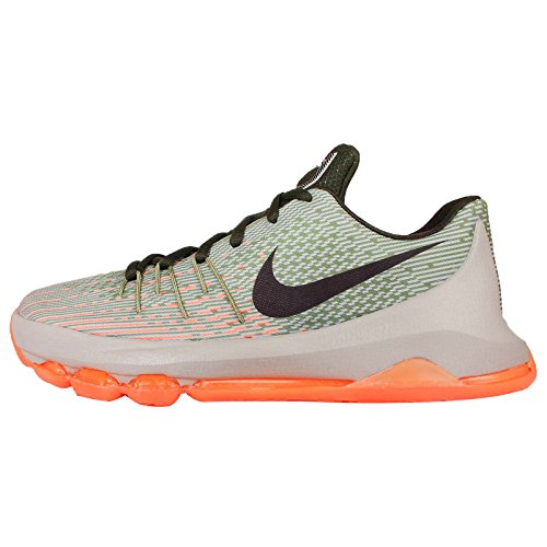 nike KD 8 (GS) basketball trainers 768867 sneakers shoes kevin durant (6.5 Big Kid M, lunar grey bright citrus -