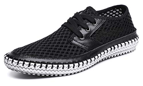 MOHEM Mens Womens Casual Mesh Water Shoes(WS3166-3Black45)