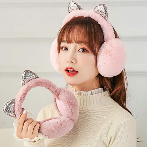 Cat Ears Earmuffs,Girls Holiday Winter Outdoor Sports Cute Cartoon Cat Ear Winter Warmers Headband Earmuffs