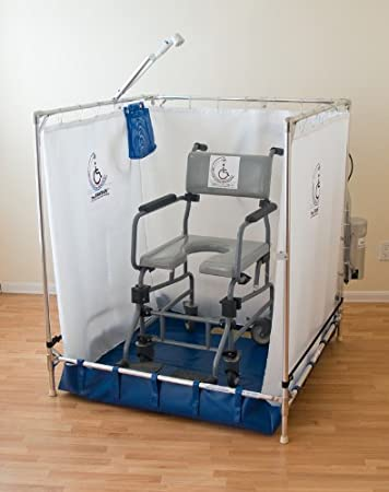 Outstanding Portable Wheelchair Safe Shower Stall Made In The Usa 10 Year Warranty On Frame Home Interior And Landscaping Mentranervesignezvosmurscom