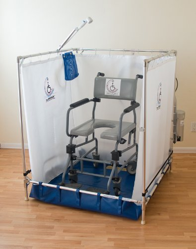 Portable Wheelchair Safe Shower Stall (Made in the USA, 10-year warranty on frame)