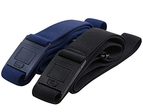 Beltaway SQUARE Adjustable Stretch Belt With No Show Square Buckle 2PK Black/Denim One Size (Best Flats For Pregnancy)