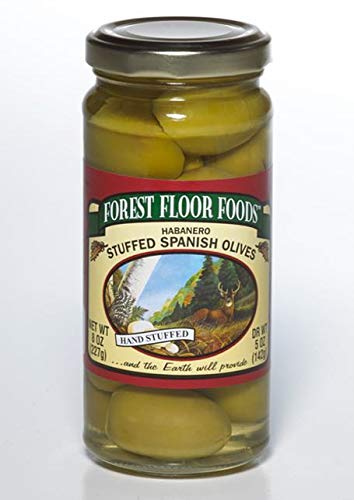 Forest Floor Foods Habanero Stuffed Queen Olive, 8 Ounce