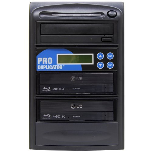 Produplicator 1 to 2 14x Blu-ray Burner BD BDXL M-Disc CD DVD Duplicator - Standalone Copier Duplication Tower