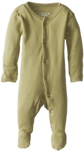 - L'ovedbaby Unisex-Baby Organic Cotton Footed Overall, Sage, Newborn (up to 7 lbs.)