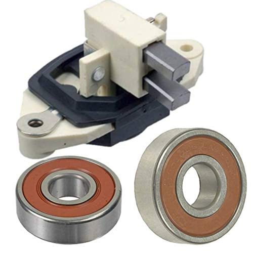Alternator Rebuild Kit Compatible with Case Equipment Tractors Loaders/more with Bosch 0120488293, 0120488205 - Regulator, Brushes, Bearings - 12161RK