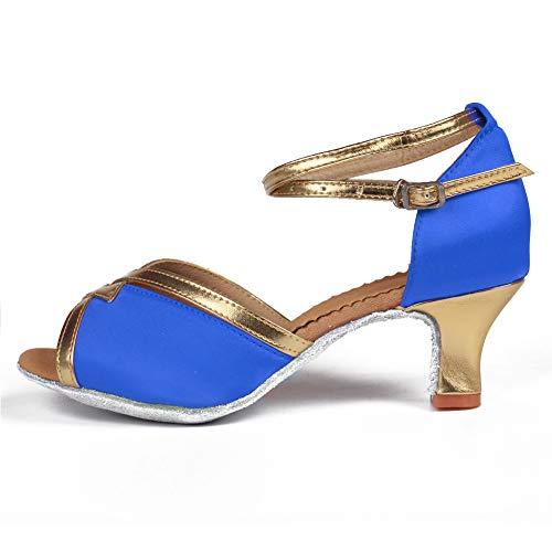 Modelo Zapatos Para De Azul Gamuza 7cm Wzsp805 Tacón Baile Mujer 5cm Suela tacon Salsa Hipposeus Latino 7TIwdwq