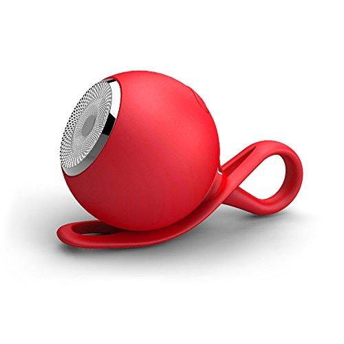 Mini Portable Bluetooth Stereo Speaker Outdoor Waterproof Rechargeable Wireless Speaker (Red)