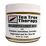 Tea tree therapy eucalyptus chest rub eucalyptus Australian lavender peppermint and tea tree oil. Description: helps relieve nasal and upper respiratory congestion our eucalyptus oil is sourced from the world's largest eucalyptus plantation, ...