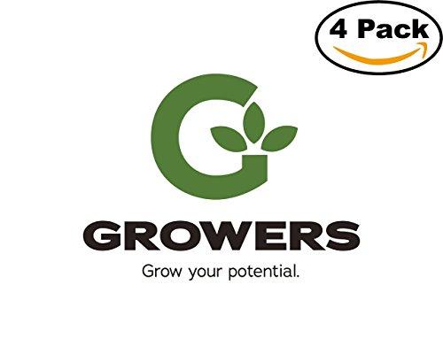 Growers 1 4 Stickers 4X4 inches Car Bumper Window Sticker (Grower Sticker)