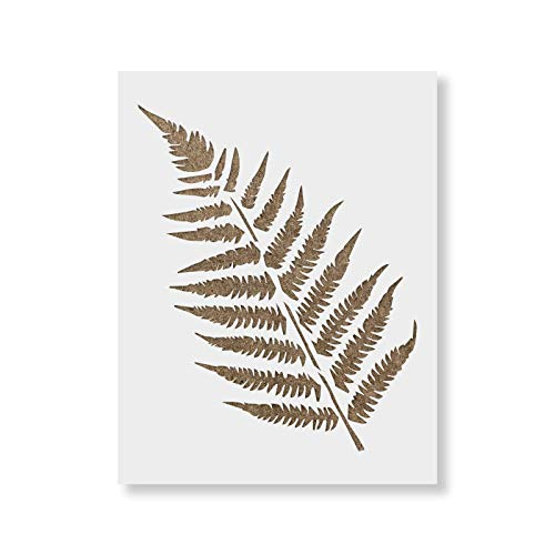 Ferns Stencil Template for Walls and Crafts - Reusable Stencils for Painting in Small & Large Sizes