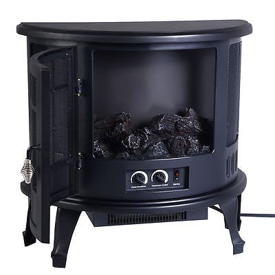 Free Standing Electric 1500W Fireplace Heater Fire Flame Stove Wood Adjustable by Standing (Image #3)