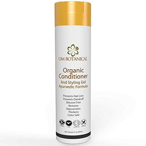 ORGANIC CONDITIONER and Styling Gel | 100% Natural Hair Conditioner is Sulfate & Silicone Free | Leave In or Wash Off Color Safe Conditioning Treatment for Scalp & All Hair Types for Men and Women (Best Herbal Shampoo For Hair Loss In India)