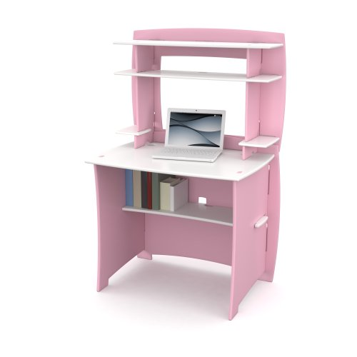 Legare Kids Desk with Hutch, 36-Inch, Pink and White by Legare