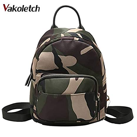 Amazon.com: Women Backpack Waterproof Nylon Lady Womens Female Casual Travel Bags Mochila Feminina School Camouflage KL155: Kitchen & Dining