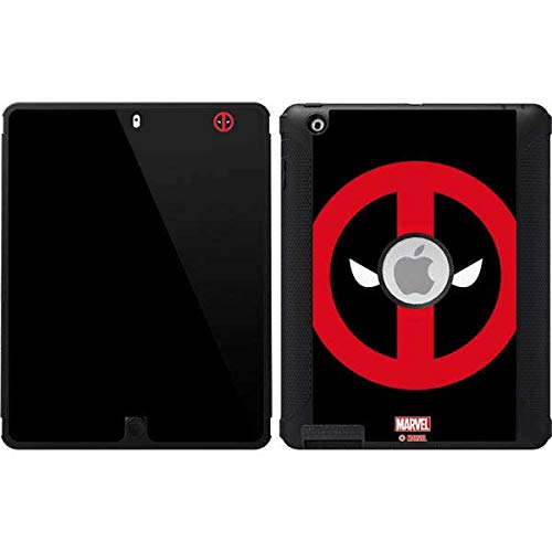 Skinit Deadpool Logo Black OtterBox Defender iPad 2/3/4th Gen Skin for CASE - Officially Licensed Marvel/Disney Skin for Popular Cases Decal - Ultra Thin, Lightweight Vinyl Decal Protection