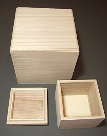 Small Plain Wooden Storage Box Case Jewellery Small Gift Candy Box FM