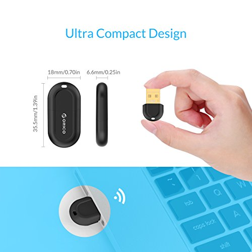 ORICO USB Bluetooth 4 0 Low Energy Micro Adapter for Windows, Headset,  Speaker, Mouse, Keyboard - Black