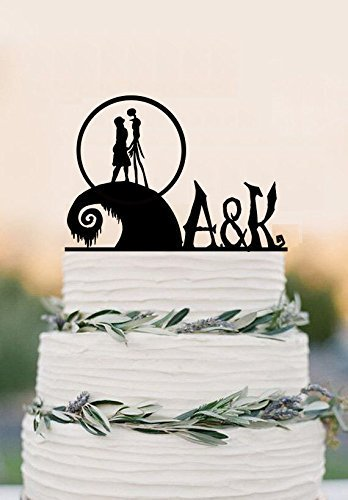 the nightmare before christmas cake topper acrylic wedding cake topper party decoration jack - Christmas Cake Decorations Amazon
