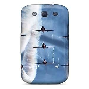 Galaxy S3 Case Cover Skin : Premium High Quality Airplane Flight Sky Smoke Case