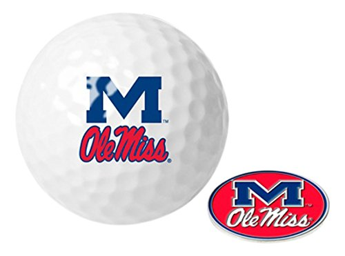 NCAA Mississippi Rebels - Ole Miss - Golf Ball One Pack with (Rebels Ncaa Golf Ball)