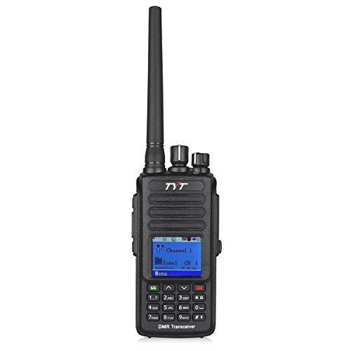 TYT Upgraded MD-390 DMR Digital Radio with GPS Function Waterproof Dustproof IP67 Walkie Talkie Transceiver UHF 400-480MHz Two-Way Radio with 2 Antennas