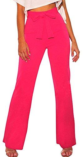 Mujer Anchos Joven De Pants Con Elastische Pantalones Bandage Taille Fit  Niña Moda Slim Otoño Primavera Fiesta Cómodo Lazo Moderno Estilo Sólido  Outdoor ... 17a2c4f62443