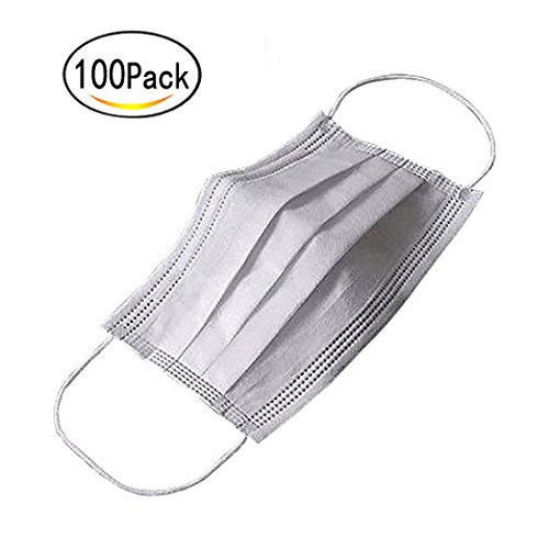 Healthcom Disposable Earloop Medical Surgical Four Layer Activated Carbon Filter Face Masks,Pack of 100 by Healthcom (Image #4)
