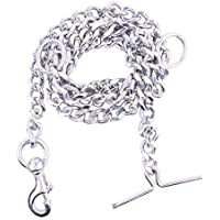PSK Super Heavy Weight Dog Leash Diamond Cut Heavy Duty Dog Chain with Brass Hook for Large Dogs (XXX Large-Size) (L: 63 Inches Thickness: 3 cm)