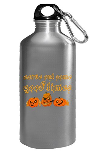 Carve Out Some Good Times Three Halloween Pirate Pumpkins - Water Bottle