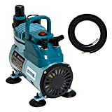 Master Airbrush Model TC-40 - Cool Runner Professional High Performance Single-Piston Airbrush Air Compressor with 2 Holders, Regulator, Gauge, Water Trap Filter & Air Hose