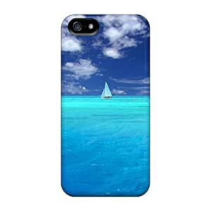 USMONON Phone cases Awesome Case Cover Compatible With Iphone Iphone 5 5s - Wonderful Blue Ocean