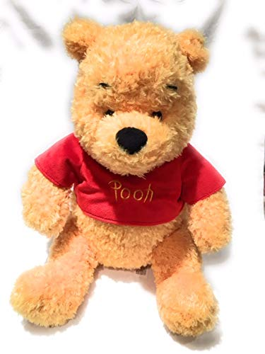 Disney Winnie The Pooh Bear Plush Curly Fur with Red Shirt 15
