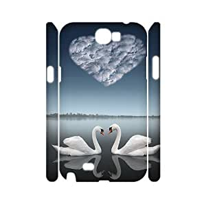 case Of Swan Customized Hard Case For Samsung Galaxy Note 2 N7100