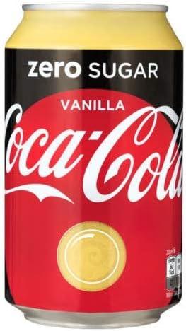 72 x Coca Cola Zero Vanilla cans, dosen, canettes, latas, lattine 0,33 L: Amazon.es: Alimentación y bebidas