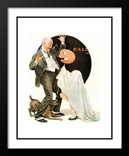 (Halloween 25x29 Framed and Double Matted Art Print by Norman)