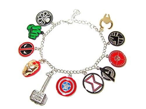 marvel-comics-the-avengers-11-themed-charms-metal-enamel-charm-bracelet-w-gift-box-by-athena